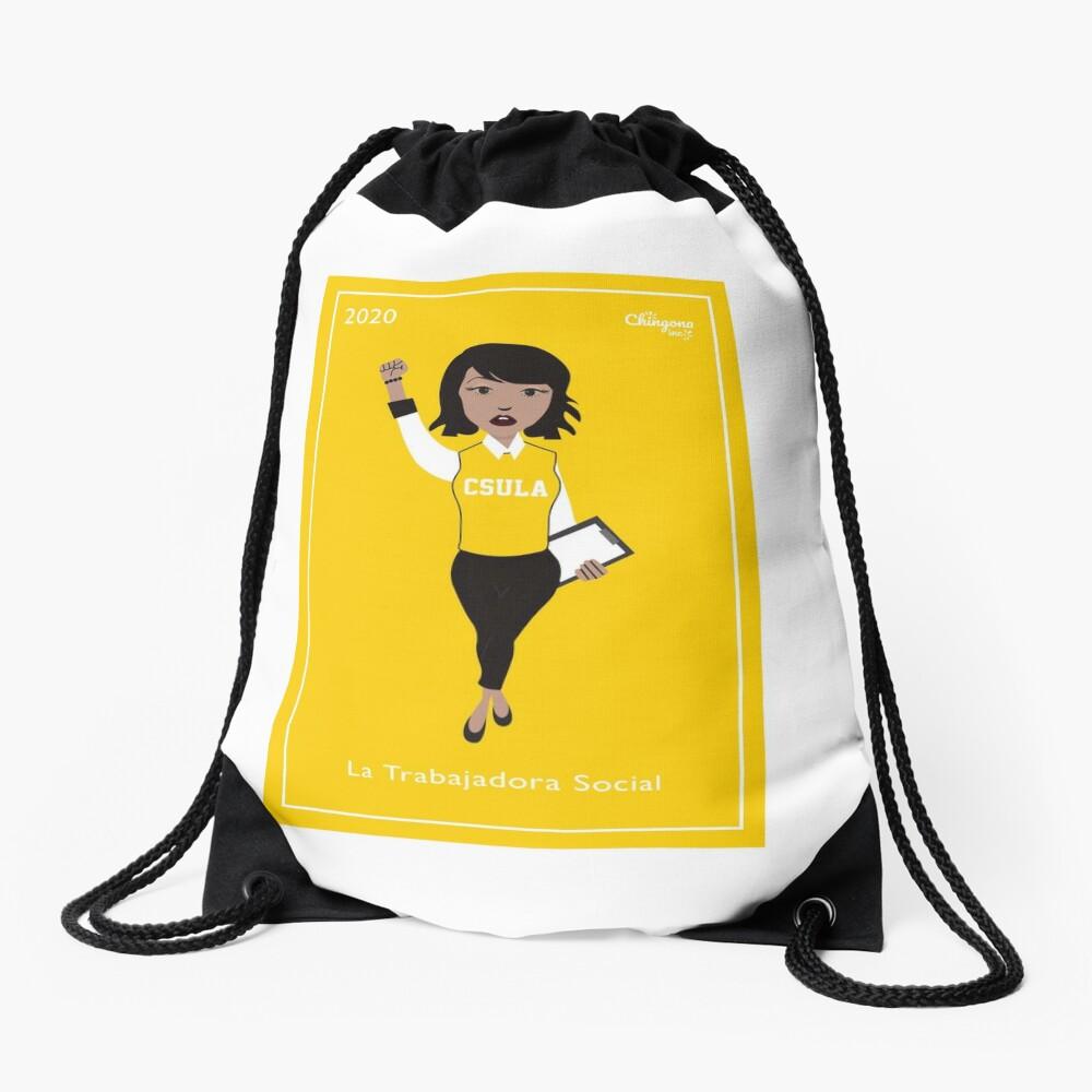 La Trabajadora Social Drawstring Bag