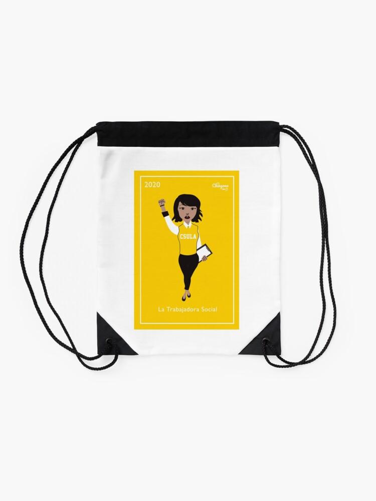 Alternate view of La Trabajadora Social Drawstring Bag