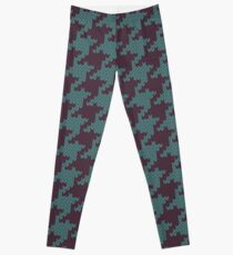 Faux Knit Houndstooth Leggings