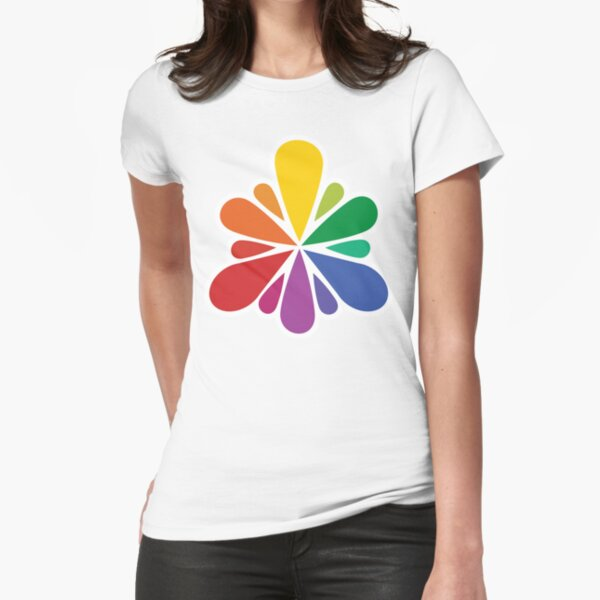 Color Spray Fitted T-Shirt