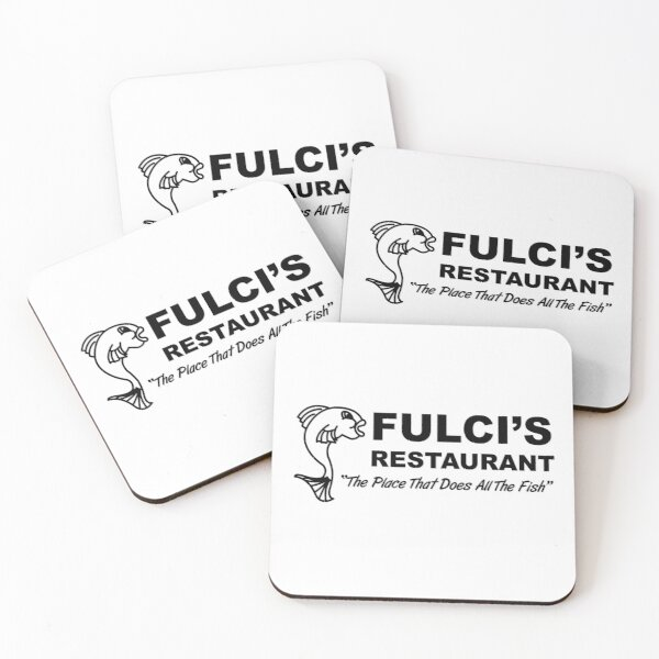 Fulci's Fish Coasters (Set of 4)