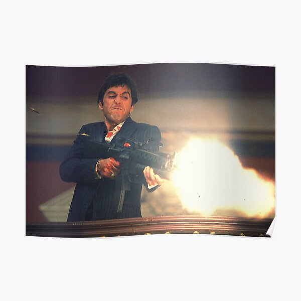 Scarface Tony Montana Shooting Poster
