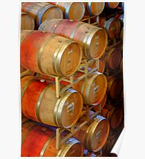 Aging Barrels, Sterling Winery, Napa Valley, California Poster