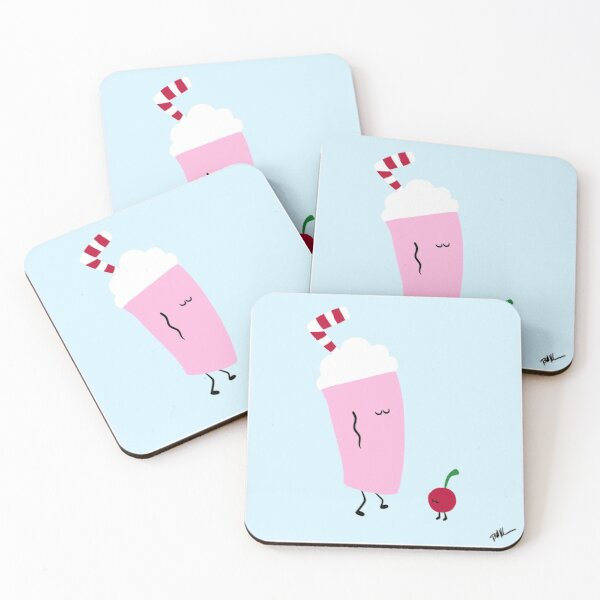 Dancing Dessert: Shake It Out Coasters (Set of 4)