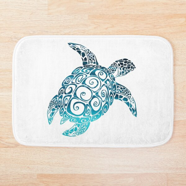 sea turtle , best gift for sea lover  Bath Mat