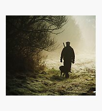 hunting pheasants on a misty morning  Photographic Print