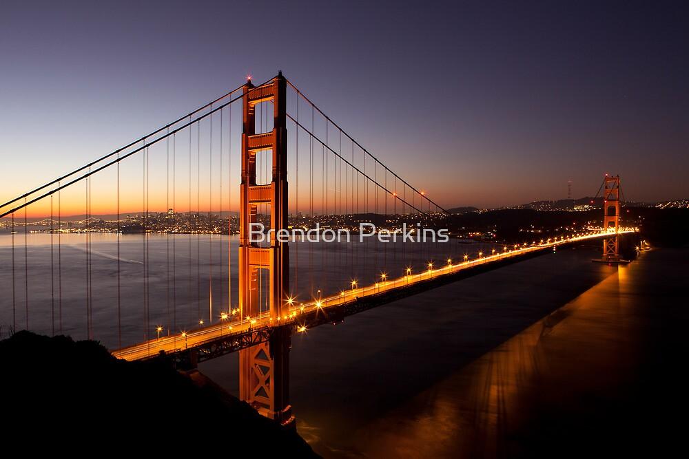 Golden Gate Bridge at Dawn, San Francisco, California by Brendon Perkins