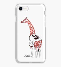 Belt Giraffe (White) iPhone Case/Skin