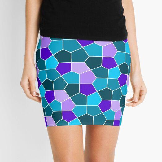 Cairo Pentagonal Tiles in Aqua and Purple Mini Skirt