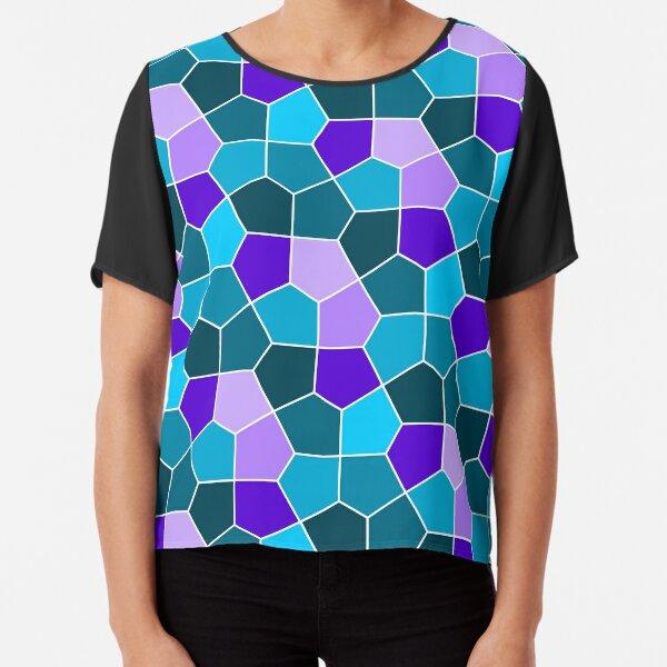Cairo Pentagonal Tiles in Aqua and Purple Chiffon Top