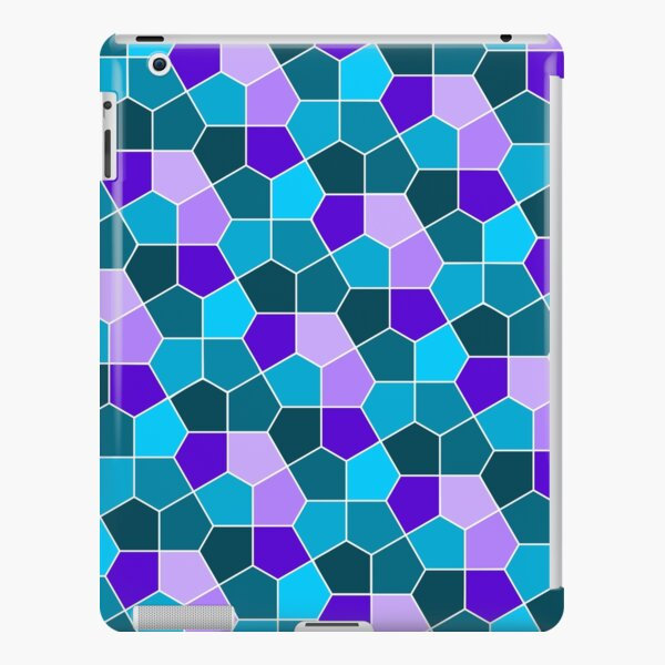 Cairo Pentagonal Tiles in Aqua and Purple iPad Snap Case