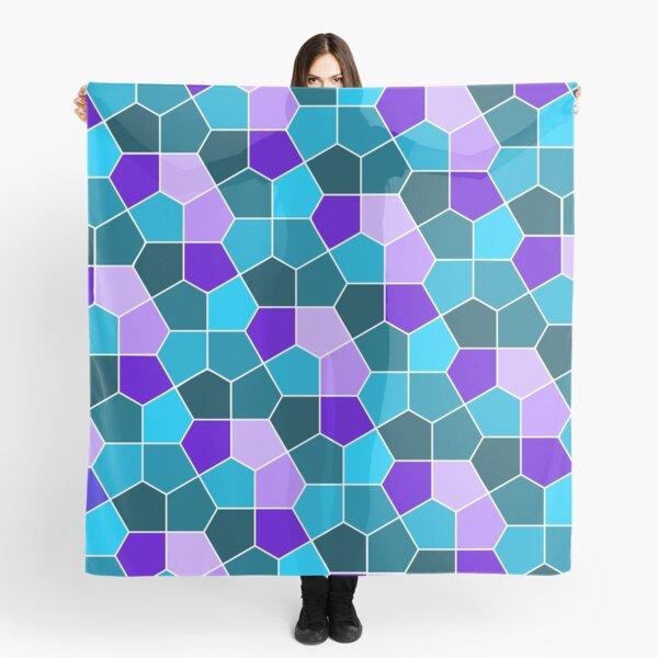 Cairo Pentagonal Tiles in Aqua and Purple Scarf