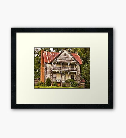""""""" This is no Prefab Structure, Built the Old Fashioned Way""""... prints and products Framed Print"""