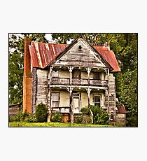 """"""" This is no Prefab Structure, Built the Old Fashioned Way""""... prints and products Photographic Print"""