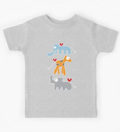 Cartoon Ellie, Giraffe & Rhino Trio Kids Clothes