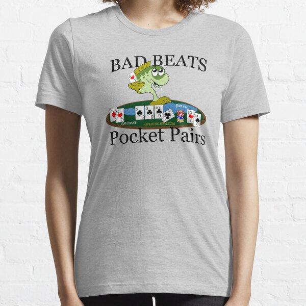 Bass Club Bad Beat Pocket Pairs Dark Text Essential T-Shirt