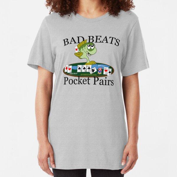 Bass Club Bad Beat Pocket Pairs Dark Text Slim Fit T-Shirt