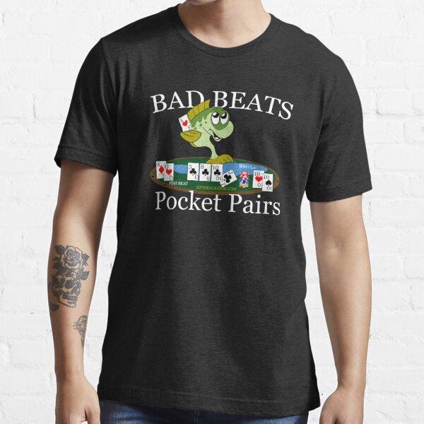 Bass Club Bad Beat Pocket Pairs Light Text Essential T-Shirt
