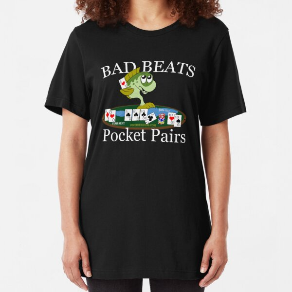 Bass Club Bad Beat Pocket Pairs Light Text Slim Fit T-Shirt