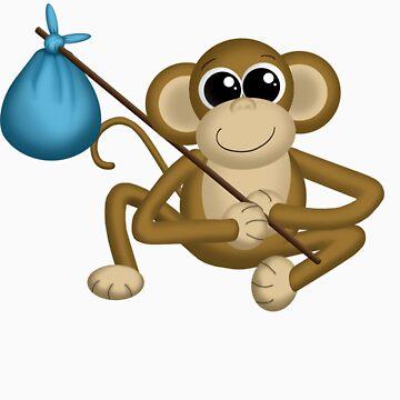 Moving Monkey by Starzraven