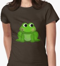 Cute Green Froggy Women's Fitted T-Shirt