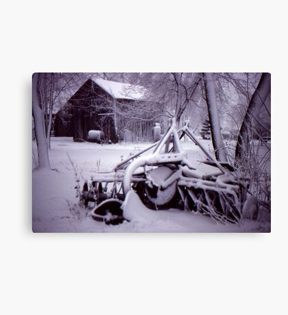 Vintage Farm Plow Canvas Print