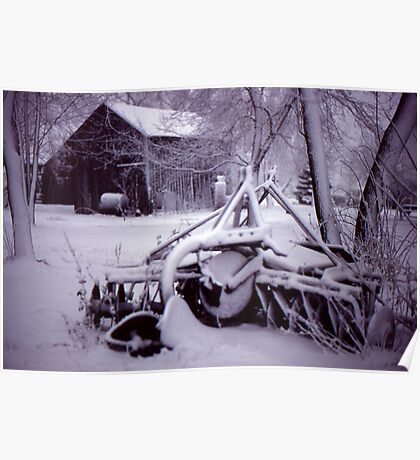 Vintage Farm Plow Poster