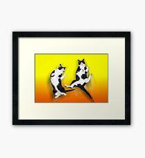 Feline It! - Color Version Framed Print