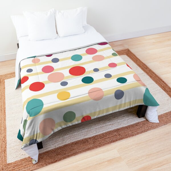 Colorfull Dots and Lines  Comforter