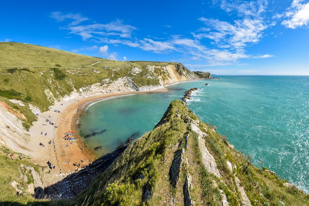 View from the top of Durdle Door, Dorset, UK by Luke Farmer