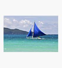 Blue Sails at Boracay Photographic Print