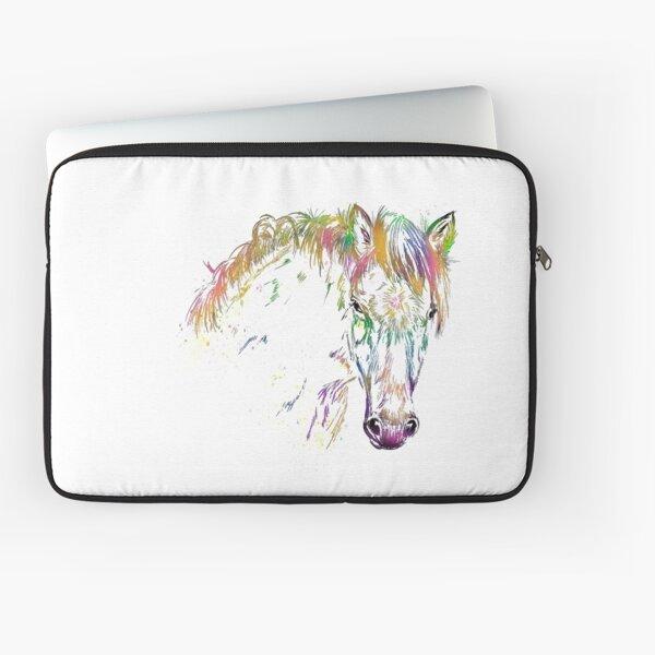 Regenbogen-Pony - Tigerschecke - Knabstrupper Laptoptasche