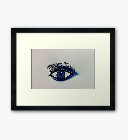 Sexy eye, watercolor Framed Print