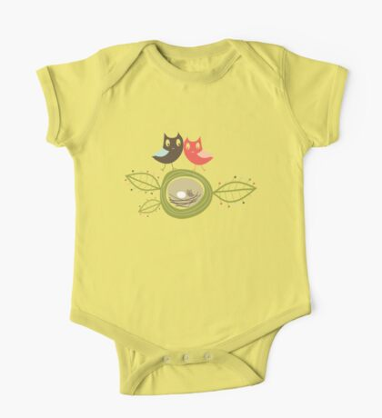Whimsical Nesting Owl Family Kids Clothes