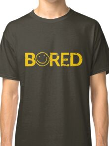 Sherlock Bored Smiley Print Classic T-Shirt