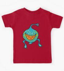 Mr. Blob Cartoon Green Monster Kids Tee