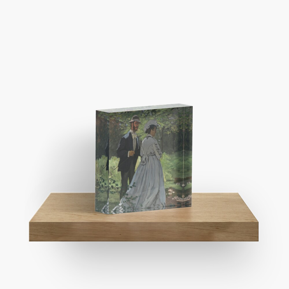 Bazille and Camille Painting by Claude Monet Acrylic Block
