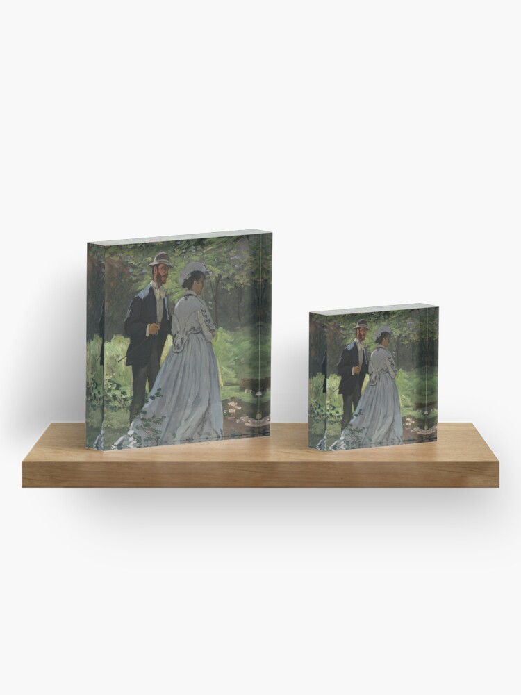 Alternate view of Bazille and Camille Painting by Claude Monet Acrylic Block