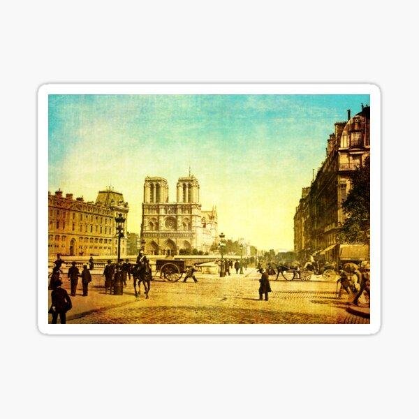 Vintage Notre Dame Sticker