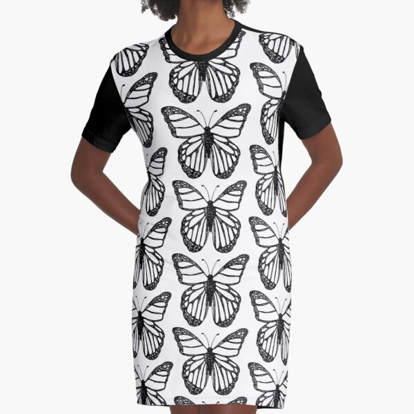 Butterfly Lines Graphic T-Shirt Dress