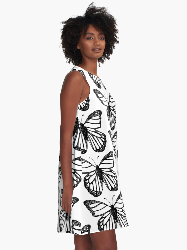 Alternate view of Butterfly Lines A-Line Dress