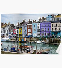 Weymouth Harbour, Dorset, UK Poster