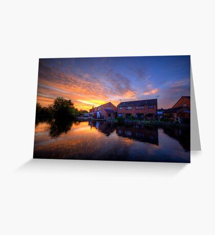 Suburban Sunrise 5.0 Greeting Card