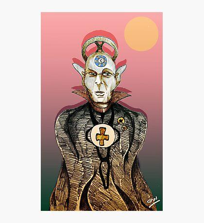 High Priest of Punk Cartoon Photographic Print