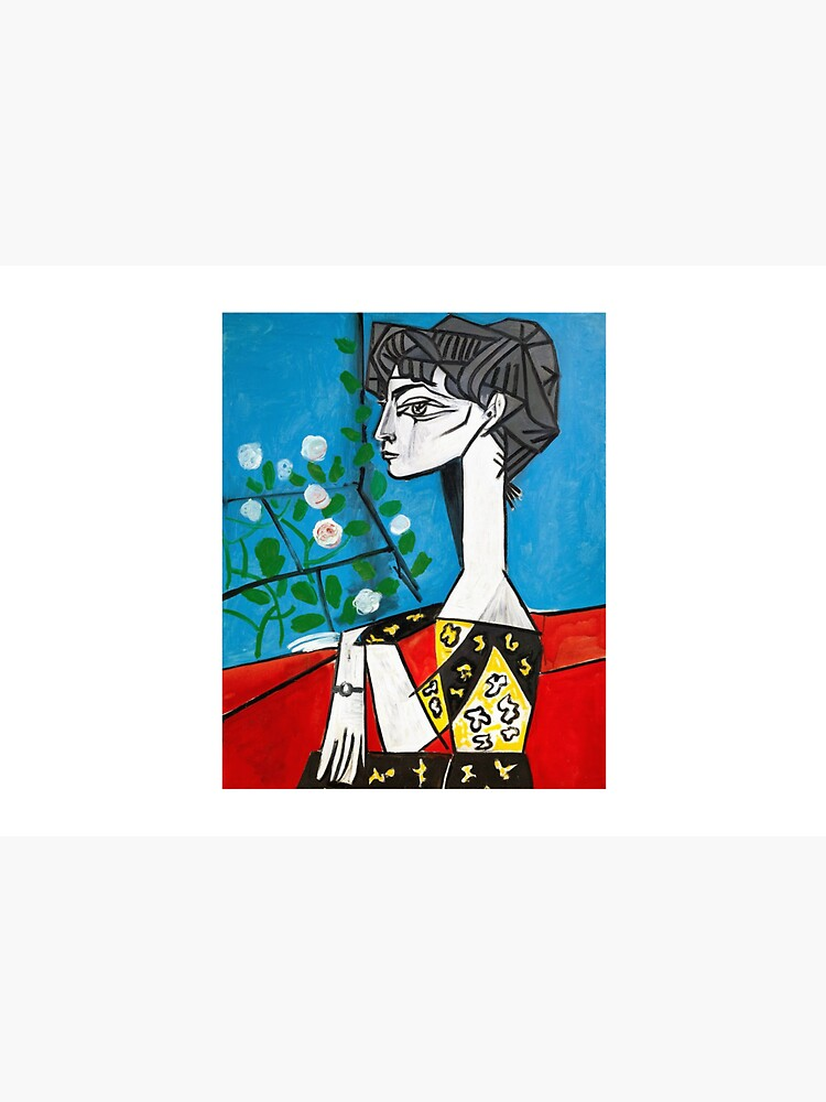 Pablo Picasso Jacqueline With Flowers 1956, T Shirt, Artwork by clothorama