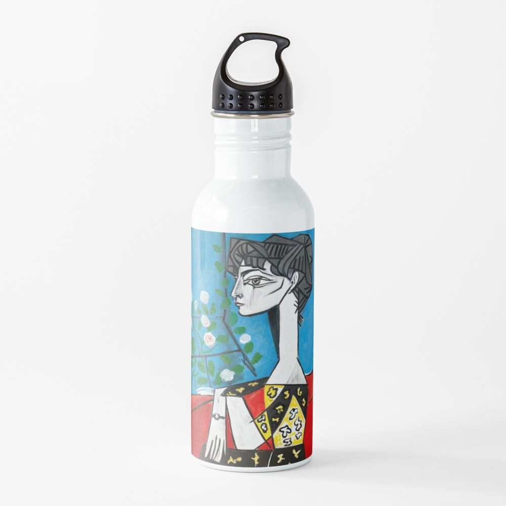 Pablo Picasso Jacqueline With Flowers 1956, T Shirt, Artwork Water Bottle
