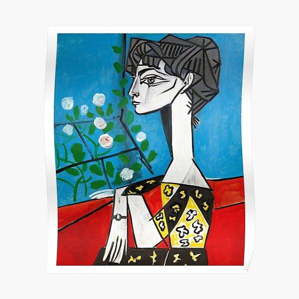 Pablo Picasso Jacqueline avec des fleurs 1956, T Shirt, Oeuvre d'art Poster