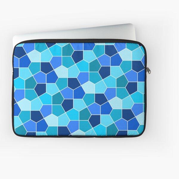 Cairo Pentagonal Tiles Cyan Blue Laptop Sleeve