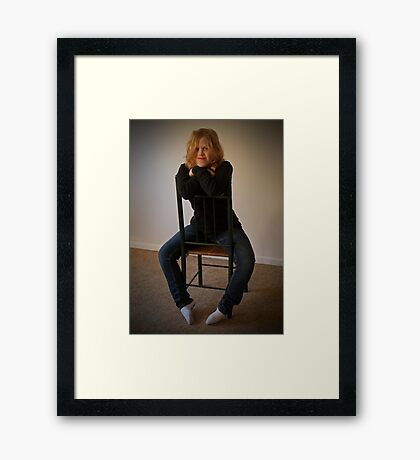 Kelly 2  Venus in Bluejeans  Framed Print
