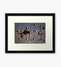 Abstract: Blue Framed Print